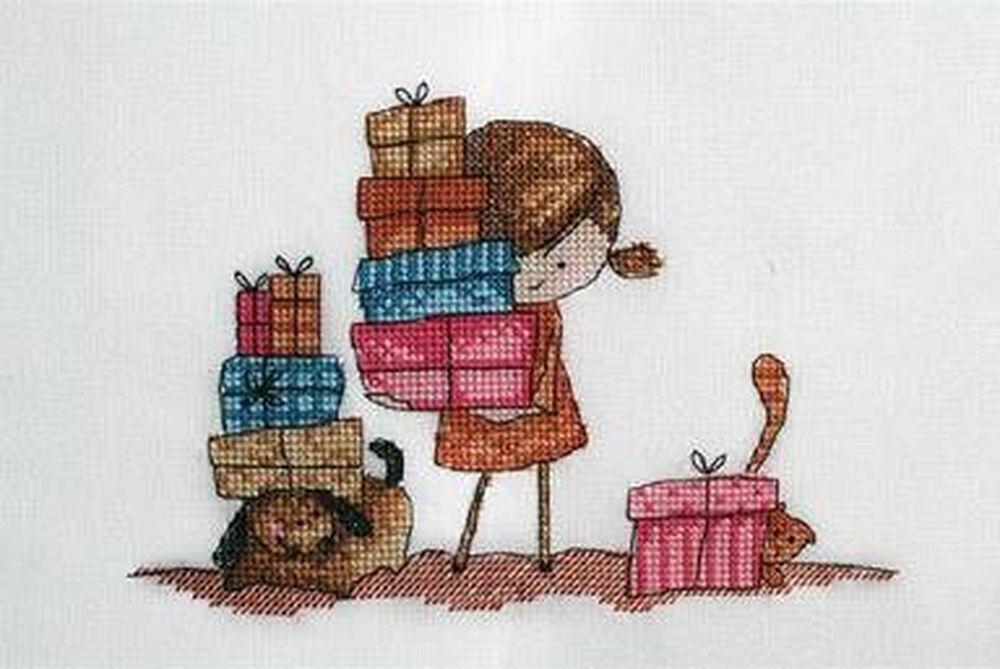 Купить Вышивка крестом, Набор для вышивания «Подарки для друзей», Neocraft, 13x18 см, ЧЛ-04