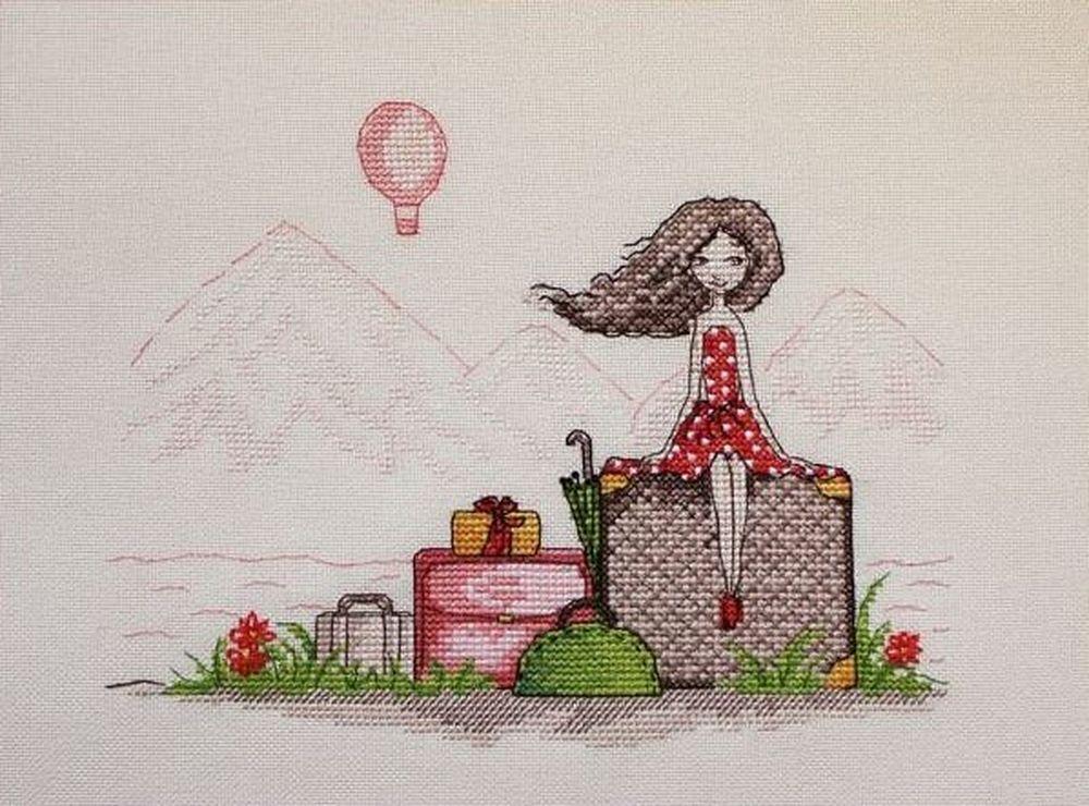 Купить Вышивка крестом, Набор для вышивания «Мечты в отпуске», Neocraft, 16x21 см, ЧЛ-06