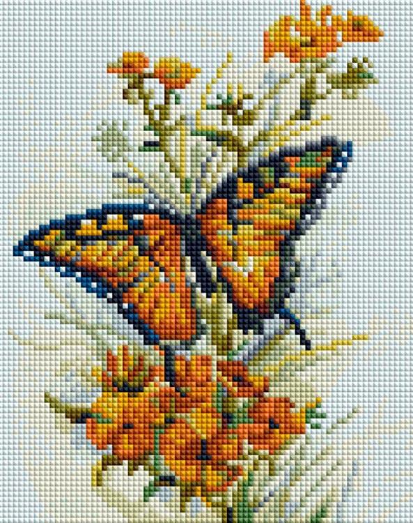 Купить Алмазная вышивка «Бабочка», Белоснежка, Россия, 20x25 см, 428-ST-PS