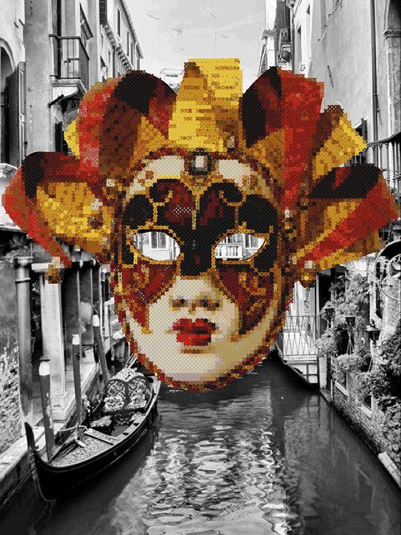 Купить Алмазная вышивка «Венецианский карнавал», Алмазное Хобби, Россия, 30x40 см, Ah5358