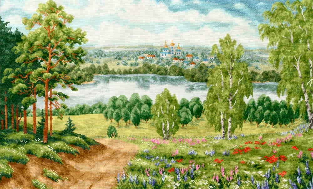 Купить Вышивка крестом, Набор для вышивания «Моя Россия», Золотое Руно, 30x51, 5 см, ВМ-033