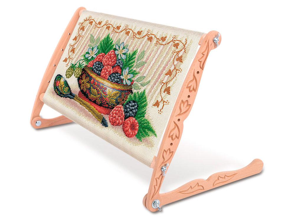 Купить Пяльцы-рамка с опорами Gamma Premium универсальные, 45х30 см, арт. DNP-45, 45x30 см, дерево, бук