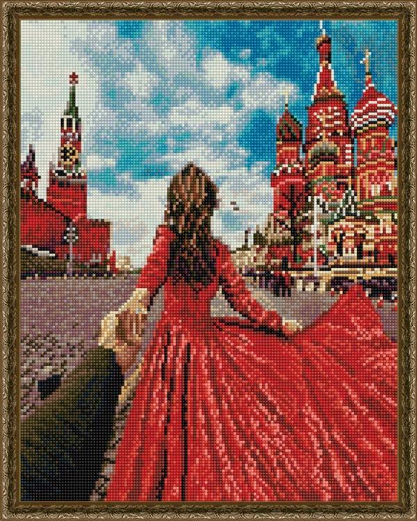 Купить Алмазная вышивка «Следуй за мной. Красная площадь», ВанГогВоМне, 40x50 см, EW10277
