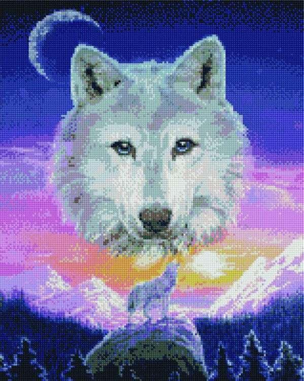 Купить Алмазная вышивка «Вой волка», Painting Diamond, 40x50 см, GF2694