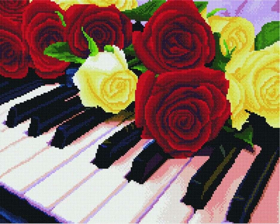 Купить Алмазная вышивка «Мелодия роз», Painting Diamond, 40x50 см, GF3790