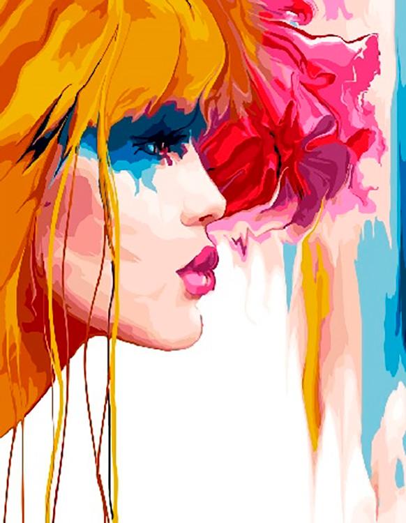 Купить Картина по номерам «Яркая девушка», Paintboy (Premium), GX29026