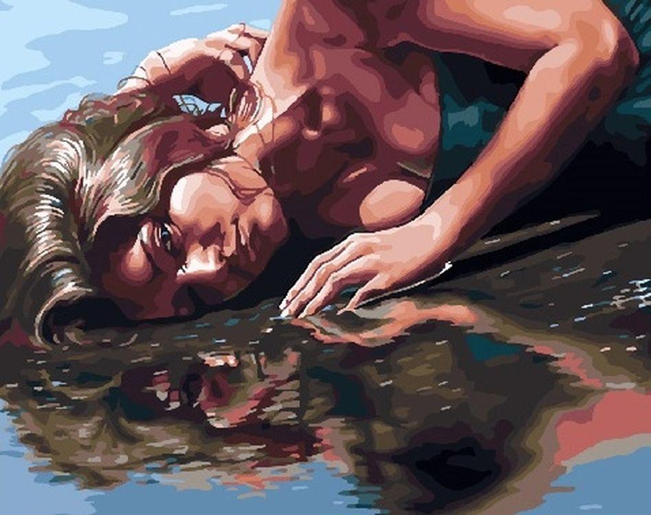 Купить Картина по номерам «Девушка на берегу», Paintboy (Premium), GX30165