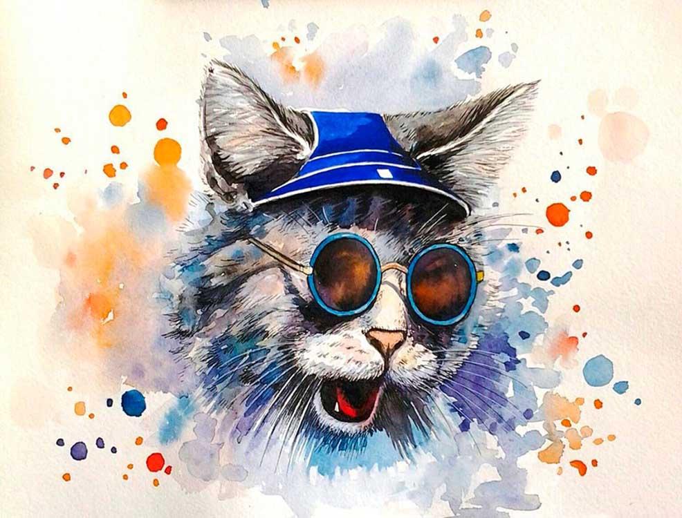 Яркие картинки с котами