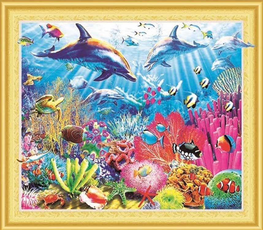 Купить Алмазная вышивка 5D «Коралловый риф», Painting Diamond, 40x50 см, LP085