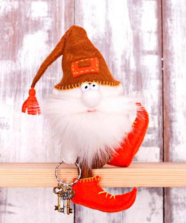 Купить Набор для шитья «Гном-ключник», Перловка, высота сидя в колпаке 14 см, ПФГ-1559