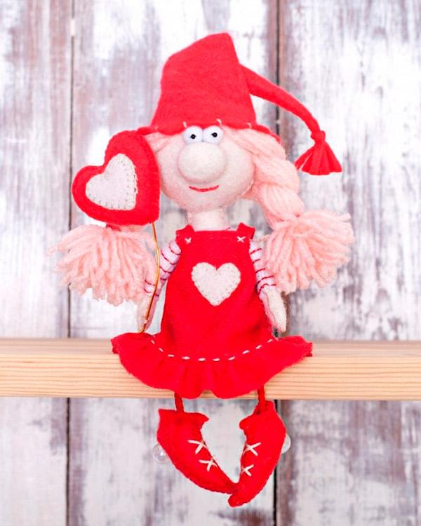 Купить Набор для шитья «Валентинка», Перловка, высота сидя в колпаке 15, 5 см, ПФГ-1560