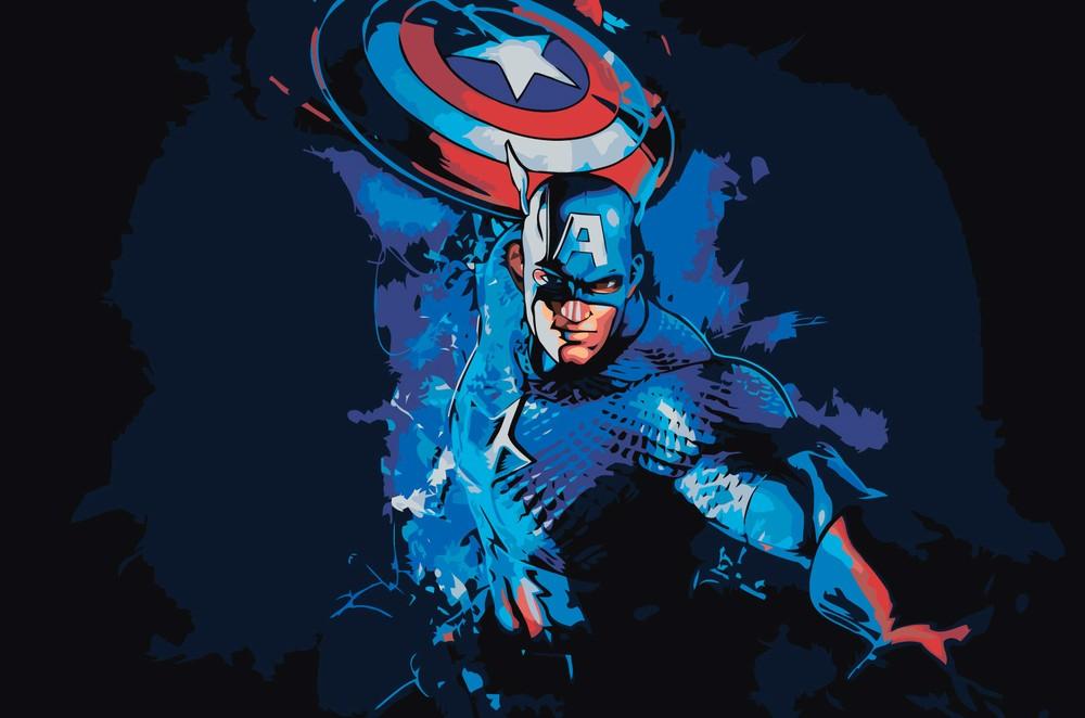Картина по номерам «Капитан Америка» Z-AB394 Живопись по ...