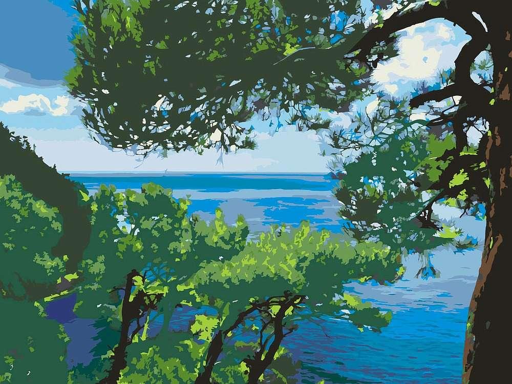 Купить Картина по номерам «Возле моря», Живопись по Номерам, Китай, Z-Z1011391