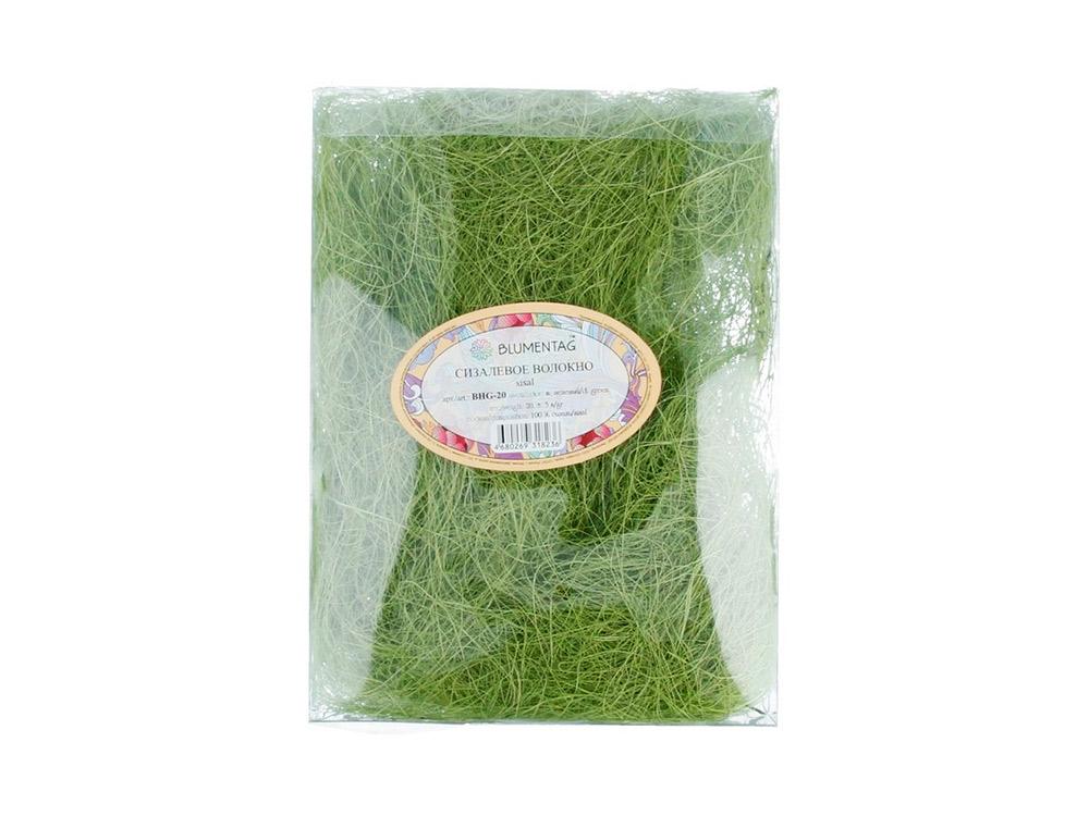 Купить Сизалевое волокно, цвет: темно-зеленый 20 г, Blumentag, натуральное волокно, BHG-20-tz