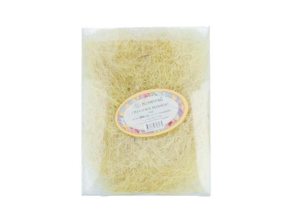 Купить Сизалевое волокно, цвет: желтый 20 г, Blumentag, натуральное волокно, BHG-20-zh