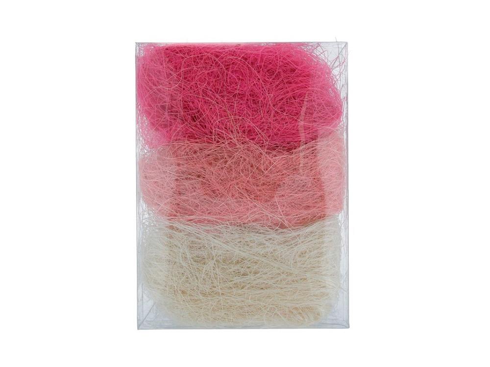 Купить Сизалевое волокно MIX, цвет: 01 белый/светло-розовый/розовый 30 г, Blumentag, натуральное волокно, BMG-30MIX-01