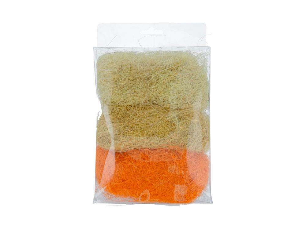 Купить Сизалевое волокно MIX, цвет: 02 светло-желтый/желтый/оранжевый 30 г, Blumentag, натуральное волокно, BMG-30MIX-02