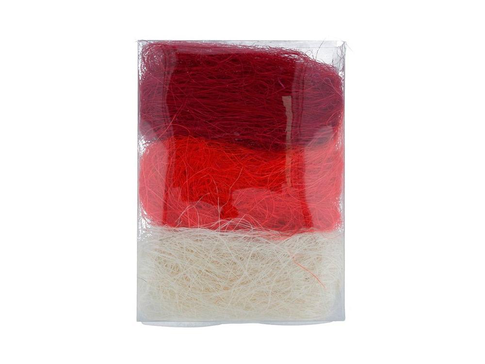 Купить Сизалевое волокно MIX, цвет: 03 белыйкрасный/бордовый 30 г, Blumentag, натуральное волокно, BMG-30MIX-03