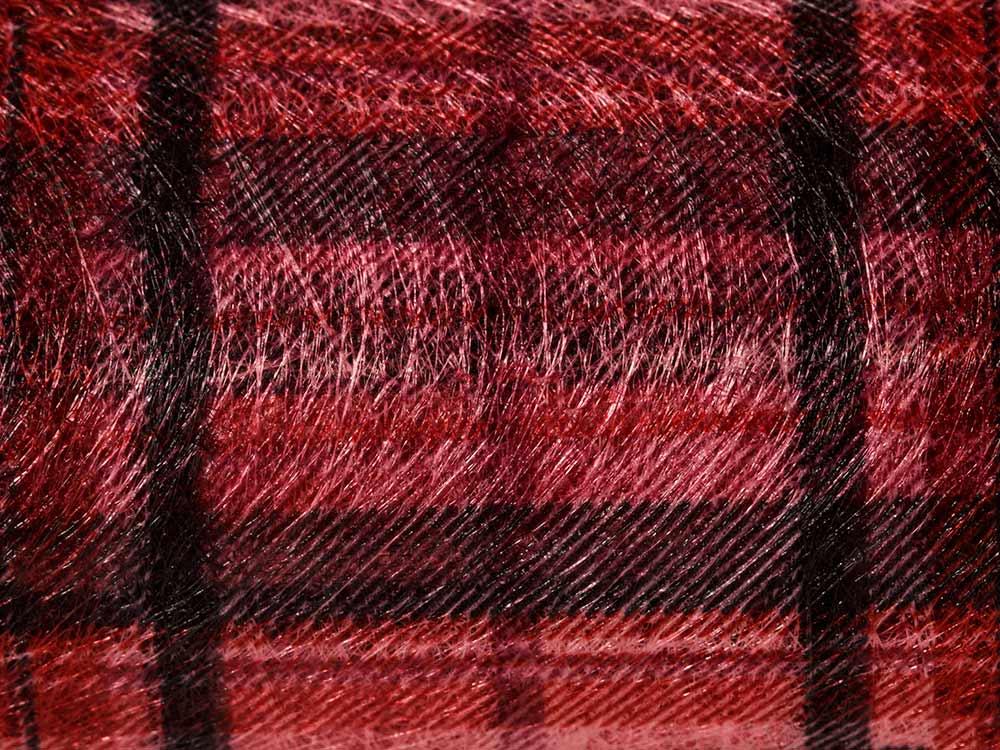 Купить Флористический фетр PNW-35, цвет: 06 красный (клетка), 10 м, Blumentag, флористический фетр (100% полиэстер), PNW-35-06