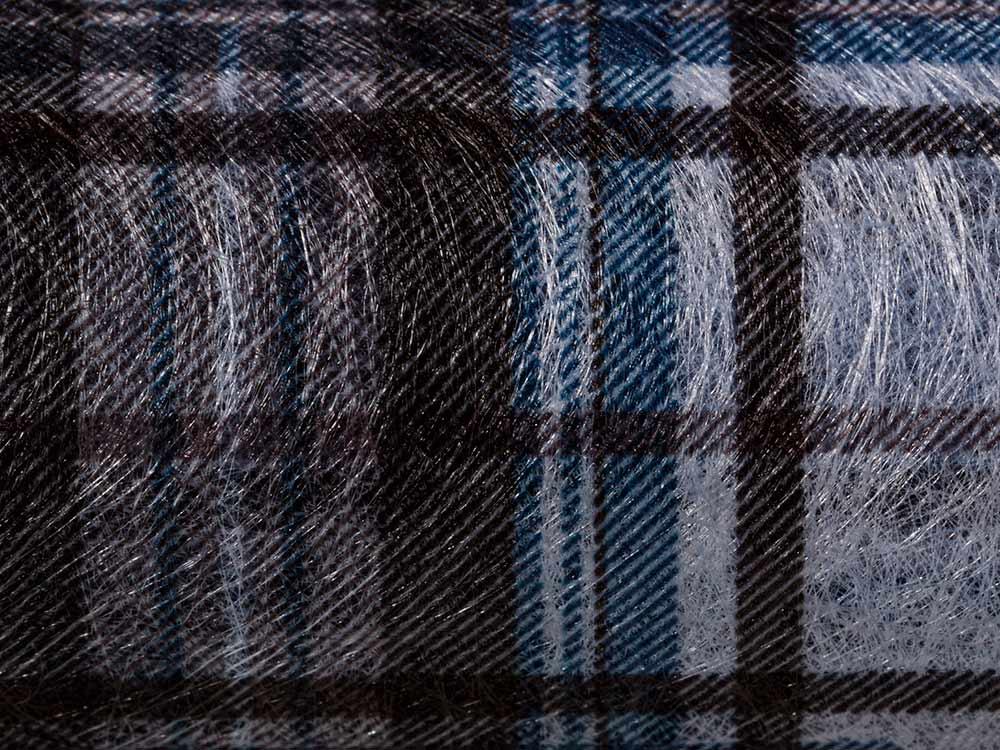 Купить Флористический фетр PNW-35, цвет: 08 синий (клетка), 10 м, Blumentag, флористический фетр (100% полиэстер), PNW-35-08