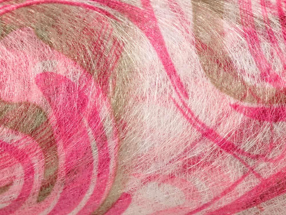 Купить Флористический фетр PNW-35, цвет: 11 розовый (волны), 10 м, Blumentag, флористический фетр (100% полиэстер), PNW-35-11