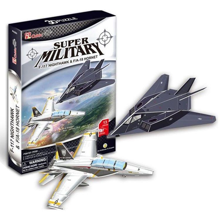 Купить 3D-пазл CubicFun 2в1 Самолеты «Ночной ястреб» и Истребитель-бомбардировщик, P629h
