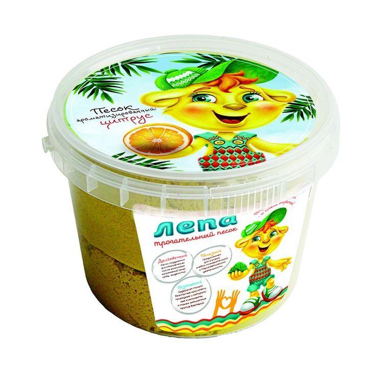 Купить Трогательный песок «Лепа - Цитрус» 1 кг, желтый песок с ароматом цитруса, 00-00000224