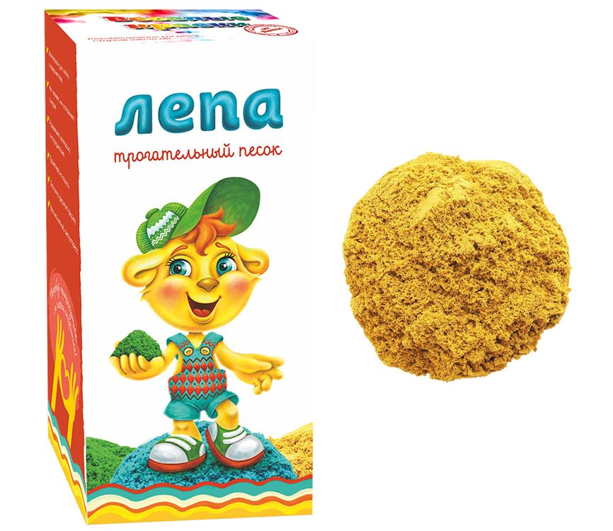Купить Песок Лепа с желтым минеральным красителем 1 кг, 00-00000277