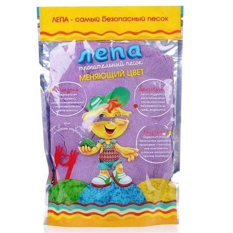 Купить Термохромный песок Лепа 0.5 кг, переход из фиолетового в синий, 00-00000693