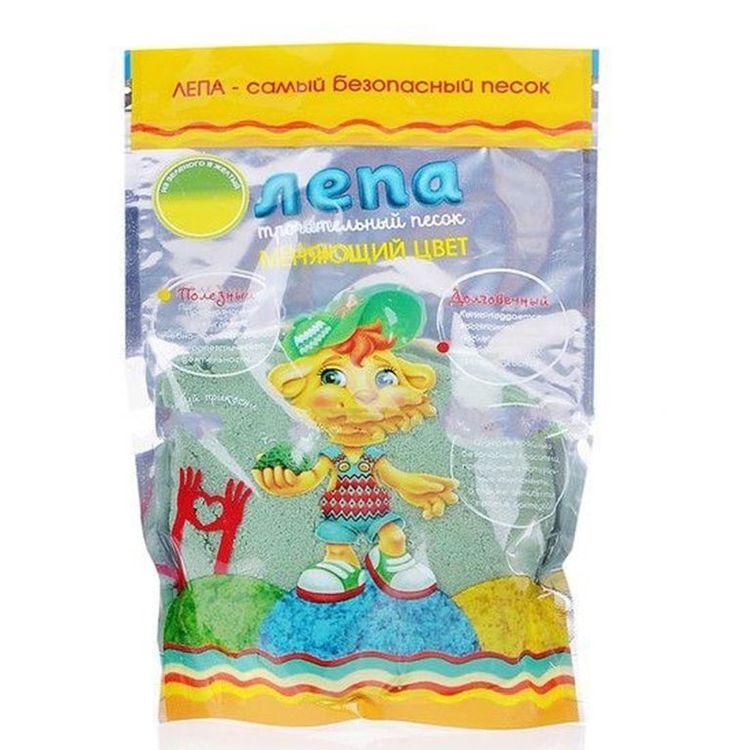 Купить Термохромный песок Лепа 0.5 кг, переход из зеленого в желтый, 00-00000694