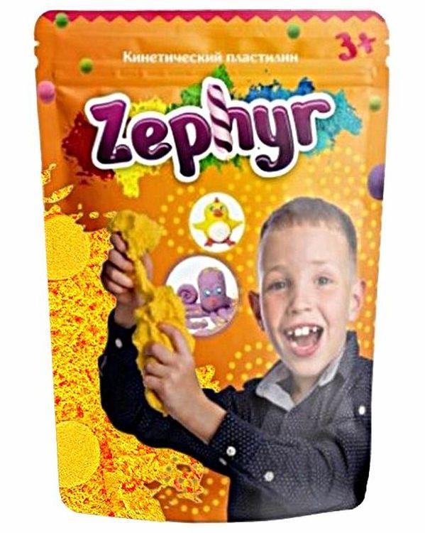 Купить Кинетический пластилин Лепа «Zephyr» желтый 0, 3 кг (Дой-пак), 00-00003573