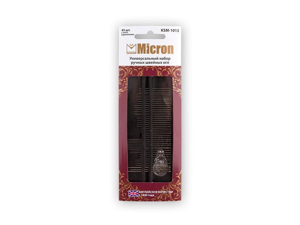 Купить Универсальный набор ручных швейных игл Micron, 45 шт., арт. KSM-1013, сталь