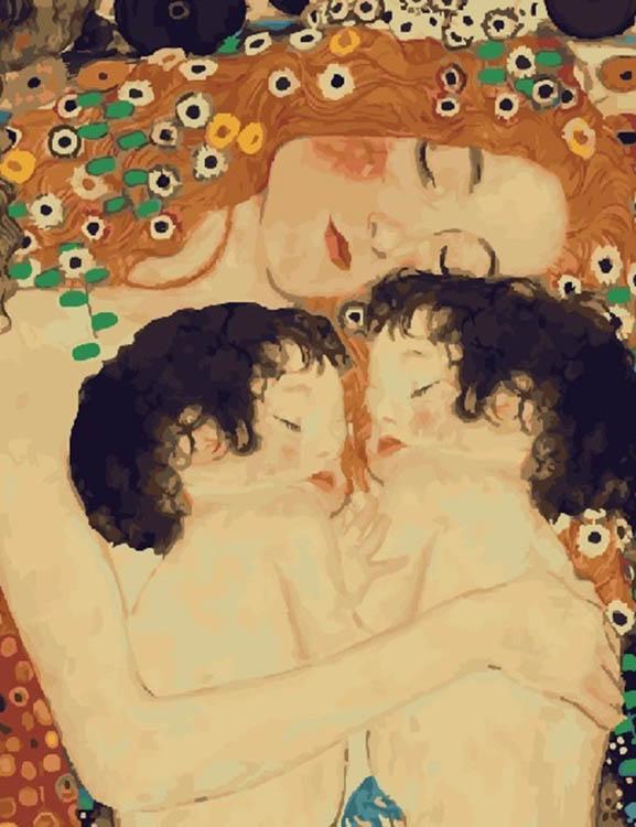 Купить Картина по номерам «На страже снов» Густава Климта, Paintboy (Premium), Китай, GX23291