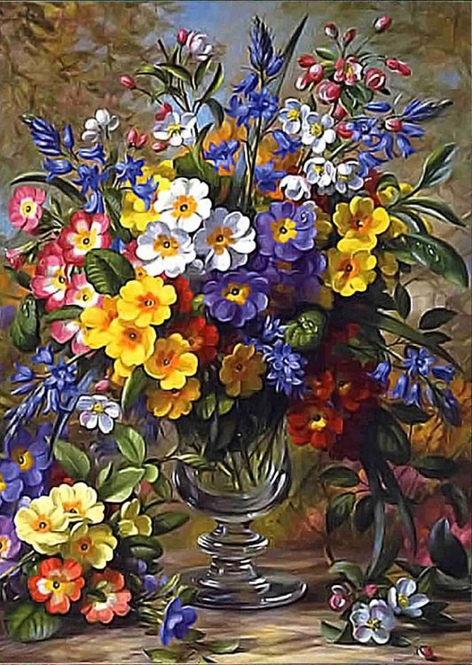 Купить Рисунок на ткани «Разноцветье», Каролинка, 25, 5x35 см, КЛ-3030