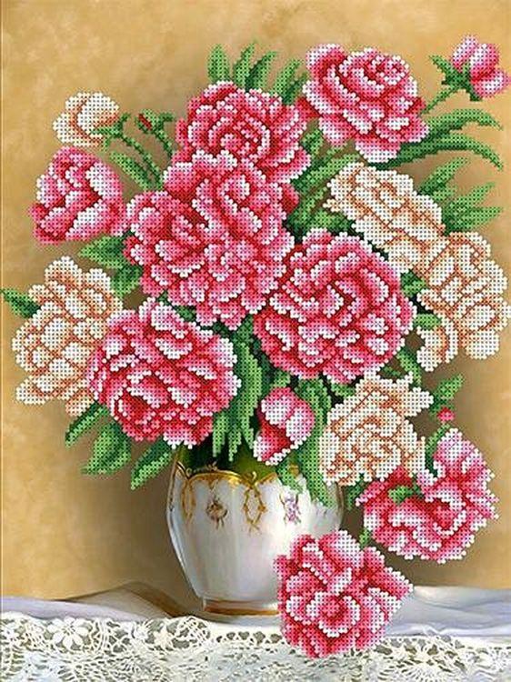 Купить Рисунок на ткани «Пионы», Каролинка, 26, 8x35, 4 см, ТКБЦ 3030