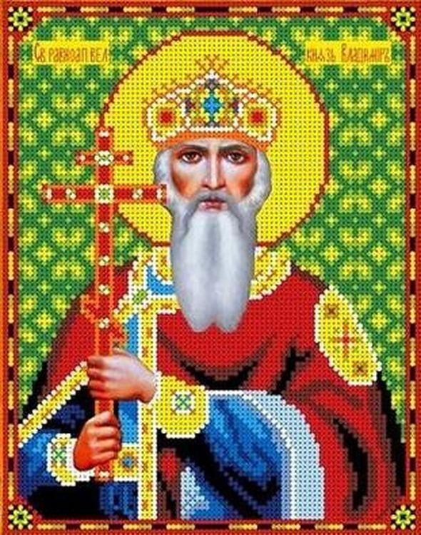 Рисунок на ткани «Святой Владимир», Каролинка, 18, 5x24 см, ТКБИ 4066  - купить со скидкой