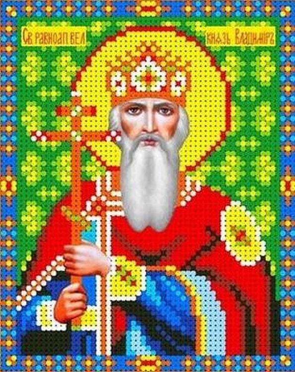 Купить Рисунок на ткани «Святой Владимир», Каролинка, 13x16 см, ТКБИ 5066