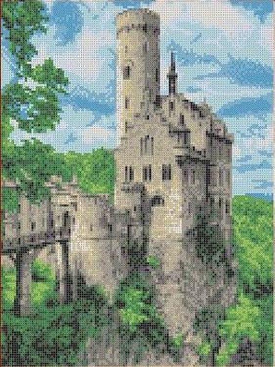 Купить Рисунок на ткани «Замок», Каролинка, 27x35, 7 см, ТКБП 3003