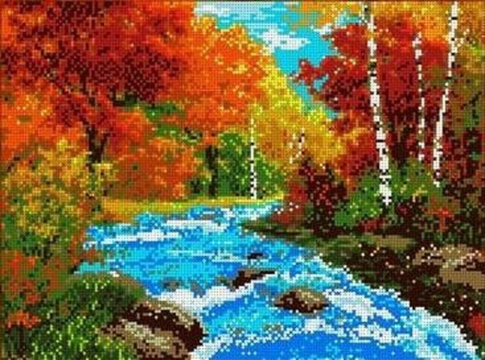 Купить Рисунок на ткани «Осень», Каролинка, 27x35 см, ТКБП 3004