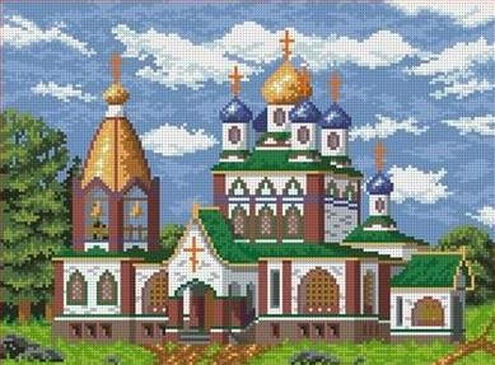 Купить Рисунок на ткани «Церковь», Каролинка, 35x27 см, ТКБП 3012