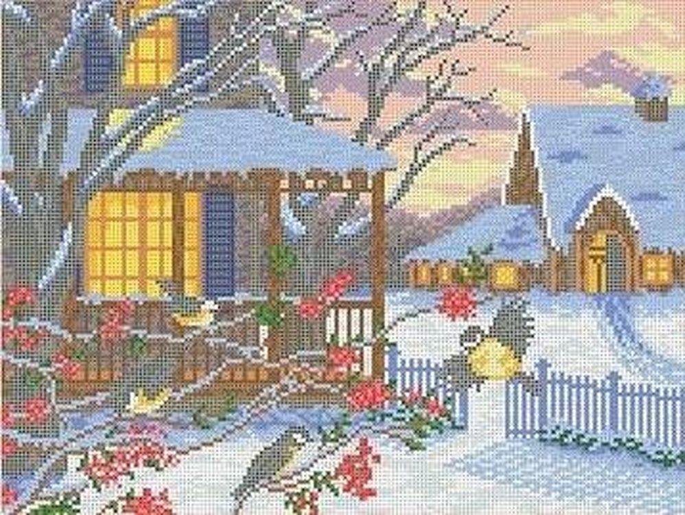 Рисунок на ткани «Морозный вечер», Каролинка, 36x27, 5 см, ТКБП 3030  - купить со скидкой