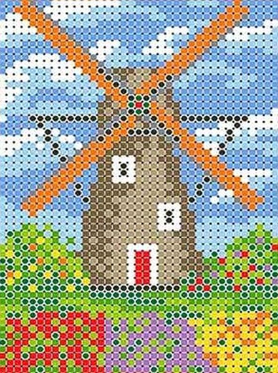 Купить Рисунок на ткани «Мельница», Каролинка, 19, 2x25, 4 см, ТКБП 4007