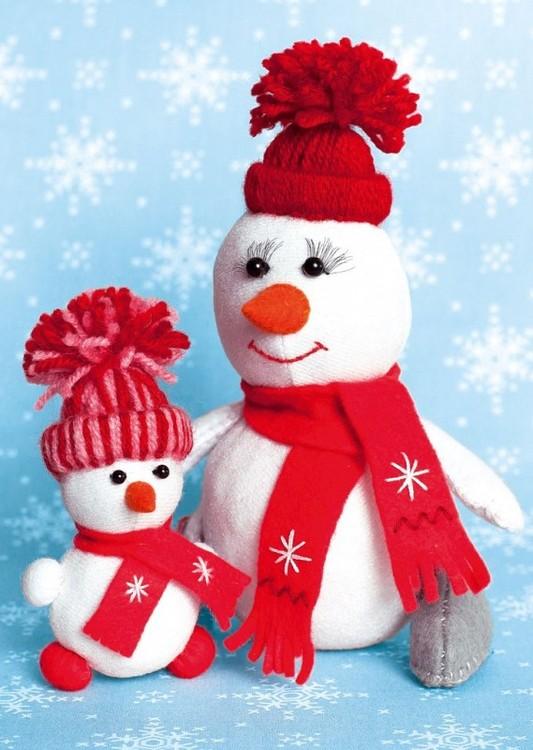 Купить Набор для шитья «СнегоМама + СнегоДочка», Перловка, высота 16, 5 см и 10, 5 см, ПСФ-1603