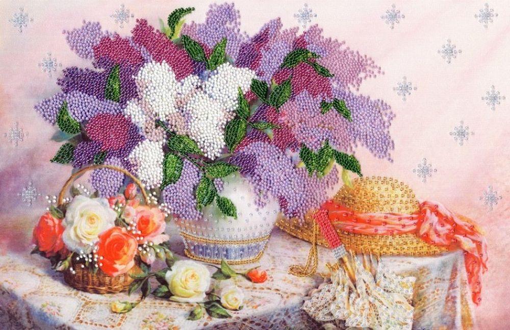 Купить Вышивка бисером, Набор для вышивания «Благоухание весны», 26х39, 5 см, РТ-162