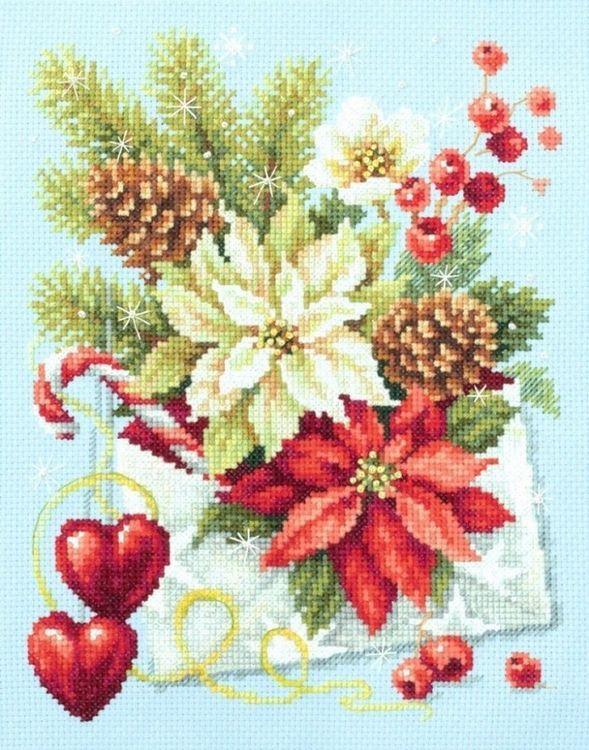 Купить Вышивка крестом, Набор для вышивания «С Рождеством!», 17х22 см, 100-241