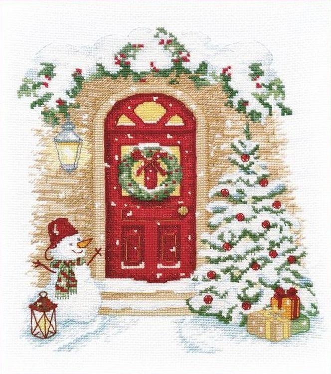 Купить Вышивка крестом, Набор для вышивания «Праздник в дверь стучится», Овен, 21x19 см, 1249