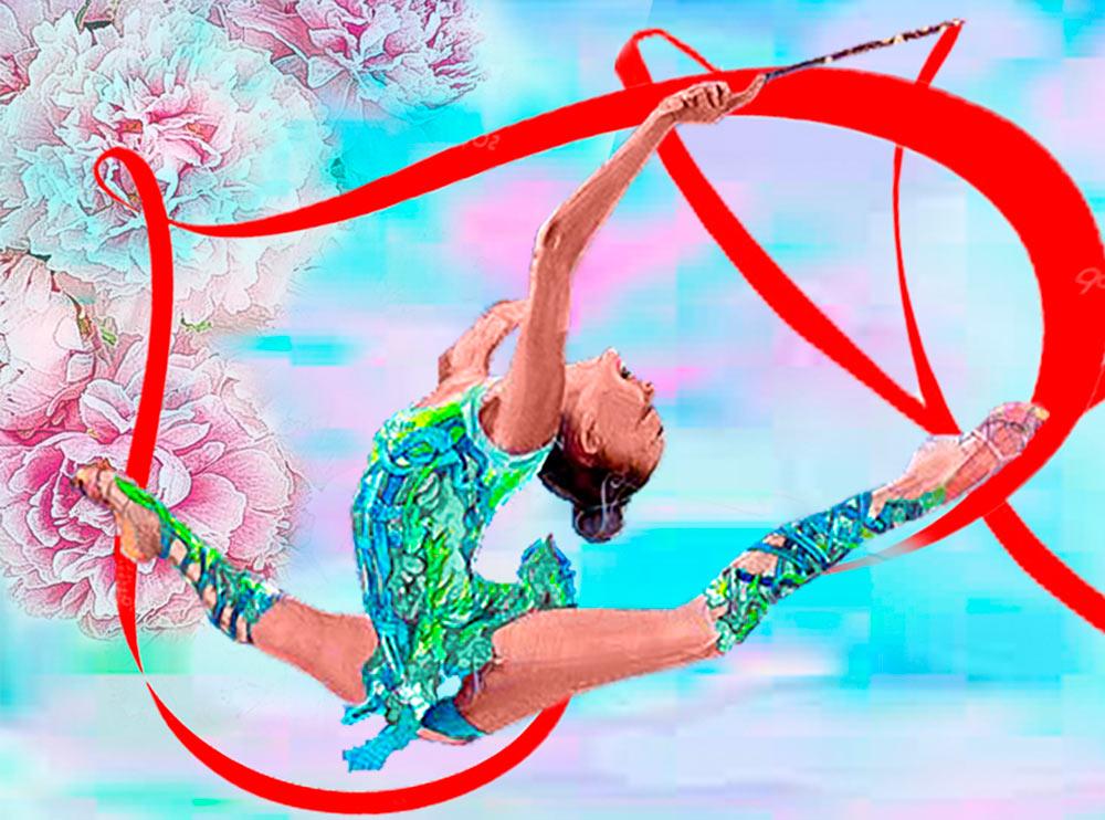 Купить Алмазная вышивка «Гимнастка», Алмазное Хобби, Россия, 30x40 см, Ah5385