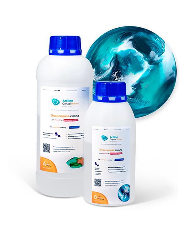 Купить Эпоксидная смола повышенной вязкости Artline Honey Epoxy, 1 кг, HON-01-000