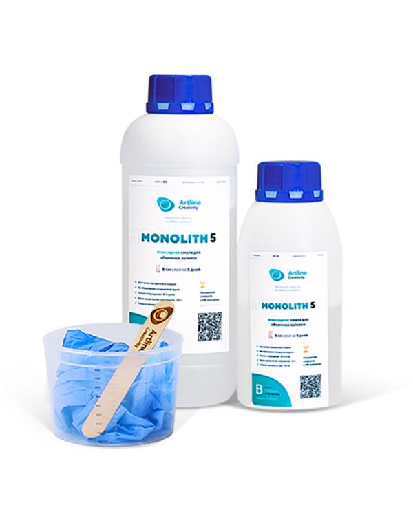 Купить Эпоксидная смола для толстослойных заливок Artline Monolith Epoxy, 1 кг, MON-01-000