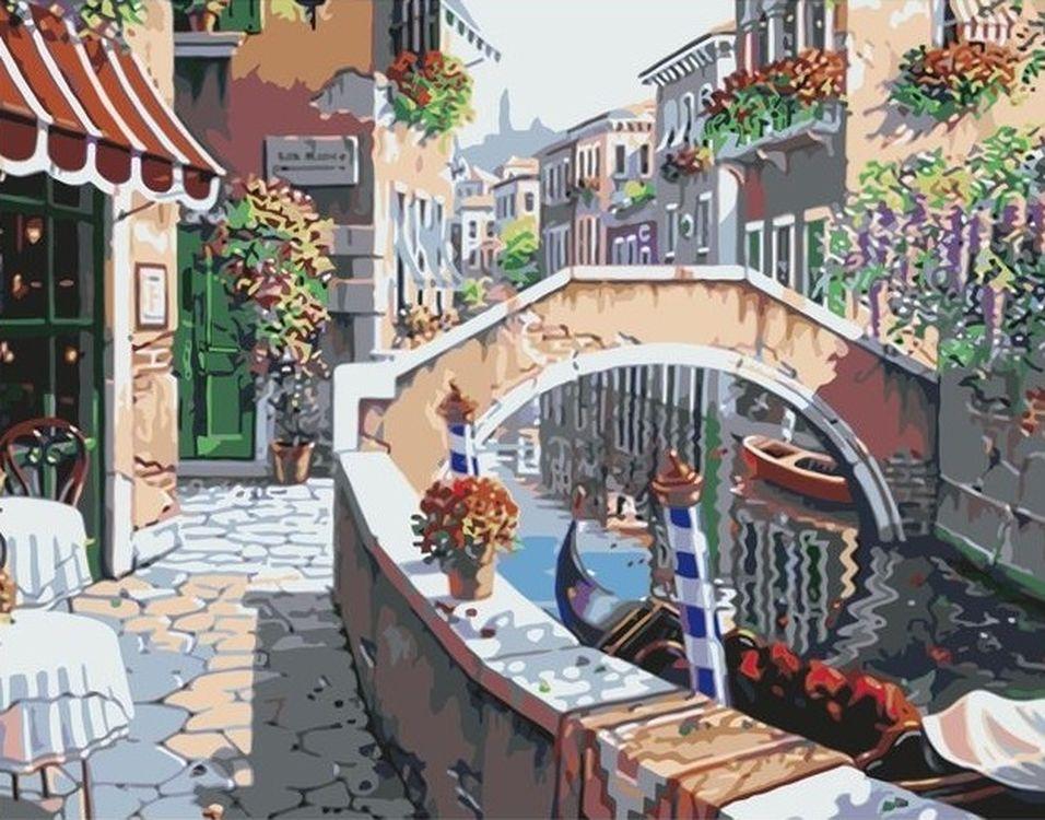 Купить Картина по номерам «Вид на канал», Paintboy (Premium), 40x50 см, VA-0392